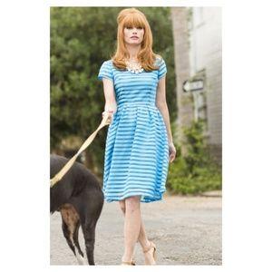 Shabby Apple Blue Striped Debutante Dress